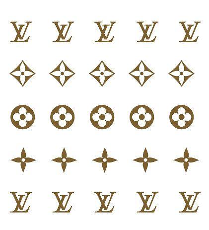 Louis Vuitton clipart vector Decals Vuitton Monogram 334 JackiesNailCandy