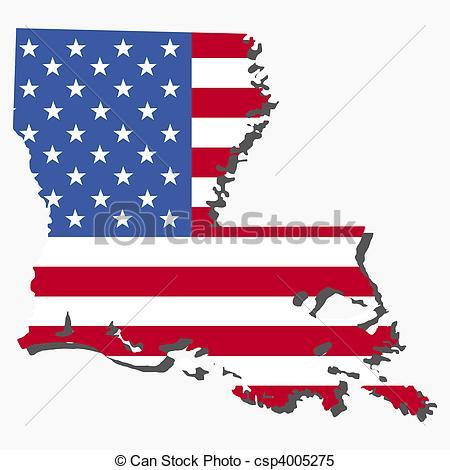 Louisiana clipart Csp4005275 of Map Louisiana of