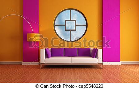 Stock of orange modern purple
