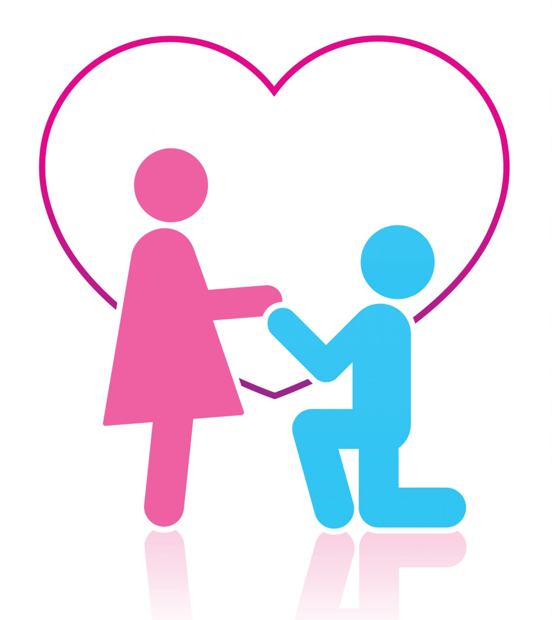 Couple clipart pink Art Love and A Clip