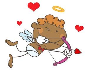 Cupid clipart cherub Clipart Image: Cupid Black