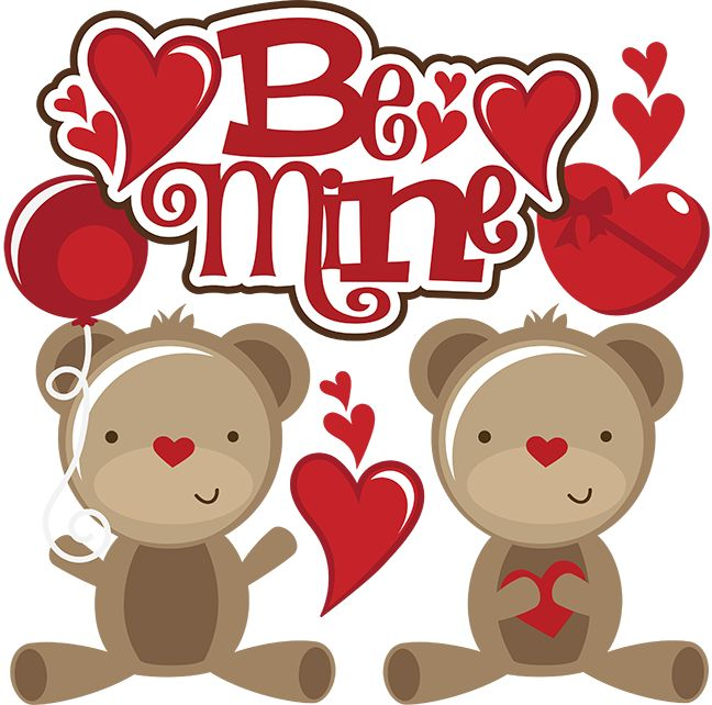 Kisses clipart cute teddy bear For scrapbookins files day Be