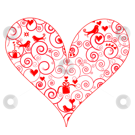 Pattern clipart heart Stock Patterned Heart Cute vector