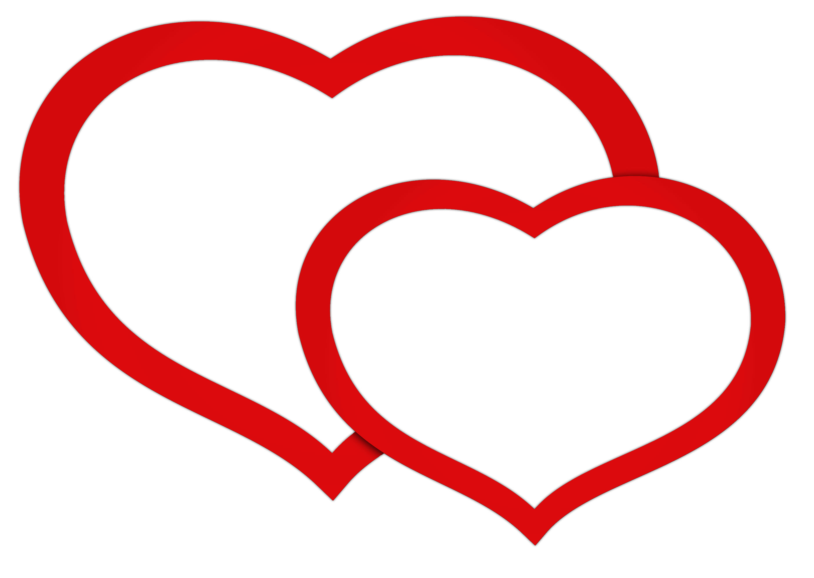 Hearts clipart double heart Picture Red Hearts Transparent Hearts