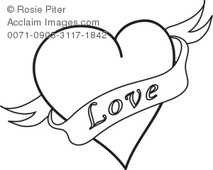 Hearts clipart heart banner Banner Illustration Illustration Heart Art