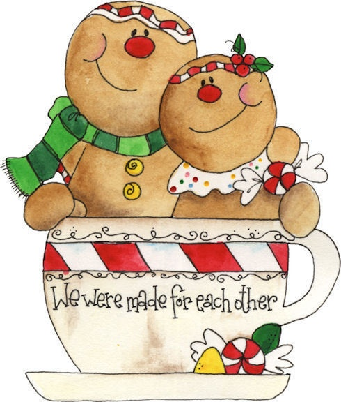 Gingerbread clipart christmas couple Pinterest crafts 10+ Details about