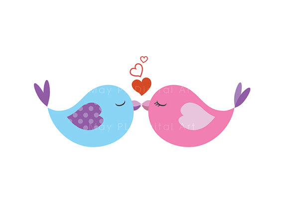 Lovebird clipart Art wedding Clip Birds DIY