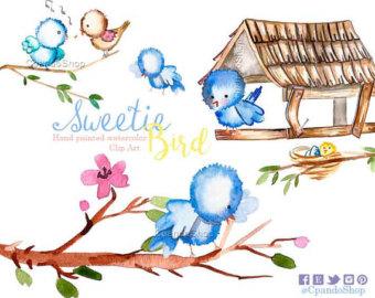 Bluebird clipart baby shower Art art clip shower Etsy