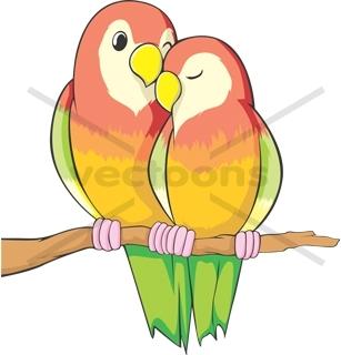 Yellow clipart love bird Art Birds Art Love Bird