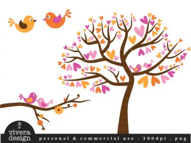 Yellow clipart love bird Art Bird clip Love Pink