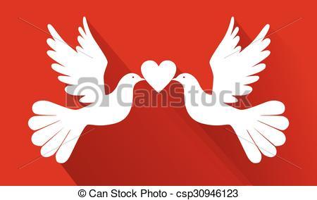 Pigeon clipart love pigeon Vector of  pigeons birds