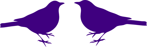 Brds clipart purple Art Love clipart Clipart birds
