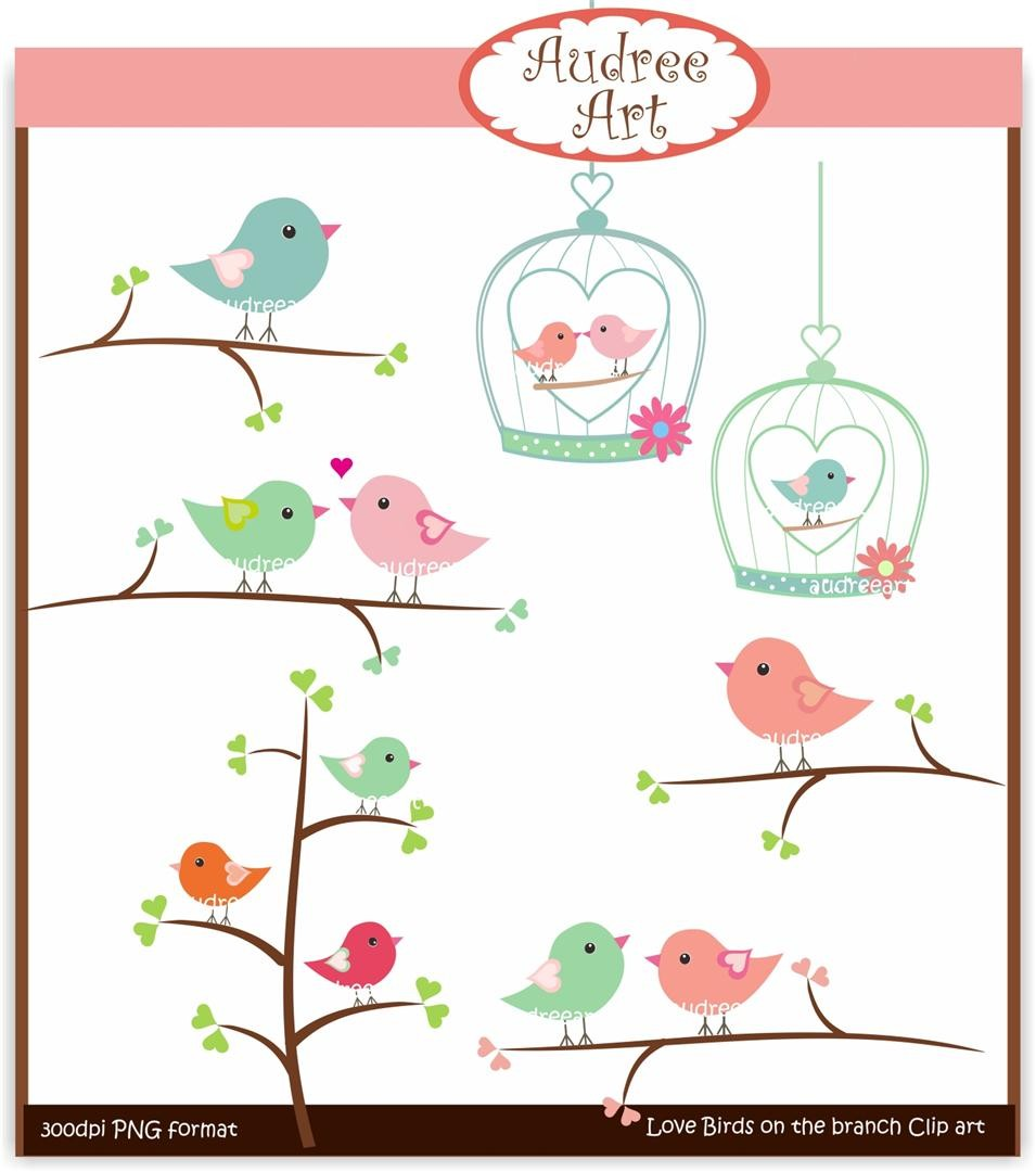 Brds clipart valentine Birds art on Clip art