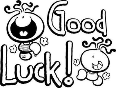 Luck clipart black and white Clipart and 4 white clipartfest