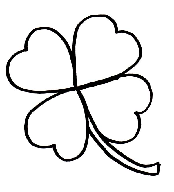 Luck clipart black and white Clover Lucky Printable Clipart