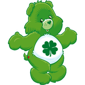 Bear clipart green Luck Love Cartoon Luck Bear