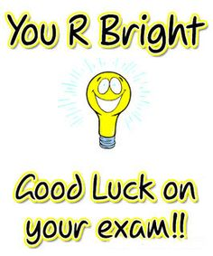 Luck clipart final exam Today luck are You starting