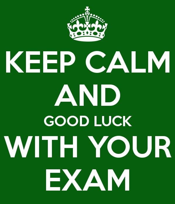 Luck clipart final exam On luck calm Keep Exams