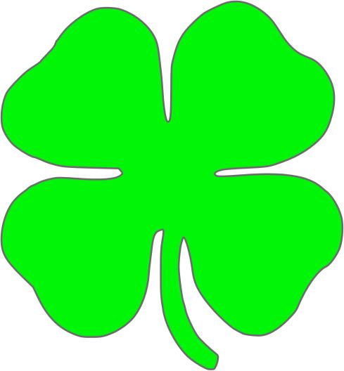 Luck clipart four leaf clover Four  Presentatiepimpers Pinterest leaf