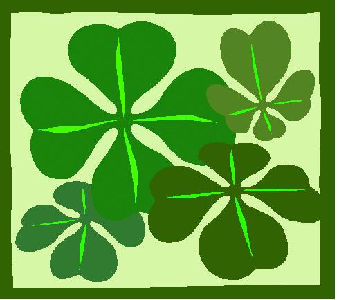 Luck clipart four leaf clover Domain art  Free clip