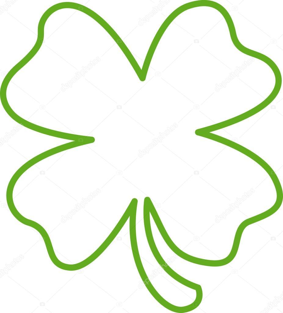 Luck clipart four leaf clover #17454437 Vector Leaf Lucky Four