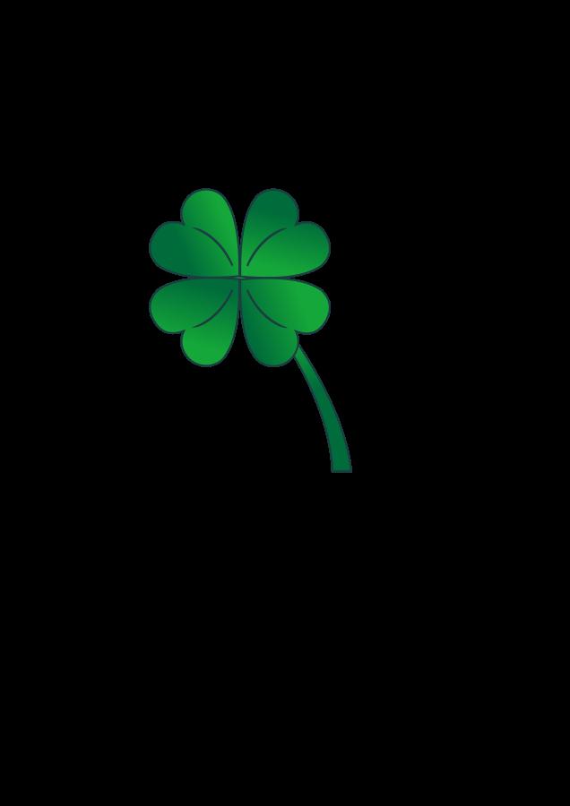 Clover clipart four leaf clover Stpatrick of clover free holiday