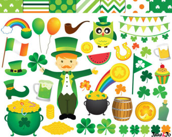 Luck clipart st patricks day Patricks clipart Patrick's Day Etsy