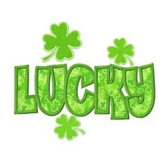 Luck clipart st patricks day ST Day Shamrock Applique ST