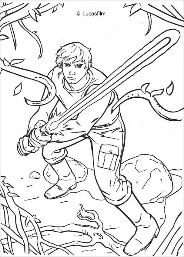 Luke Skywalker clipart coloring page MOVIE wars Hellokids Star pages