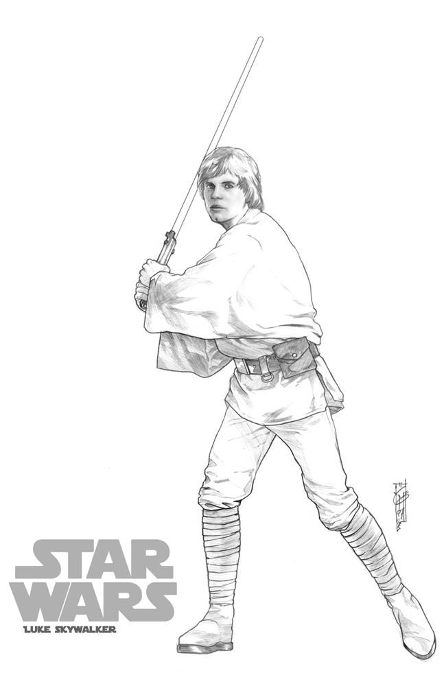 Luke Skywalker clipart drawing Master  Luke by star