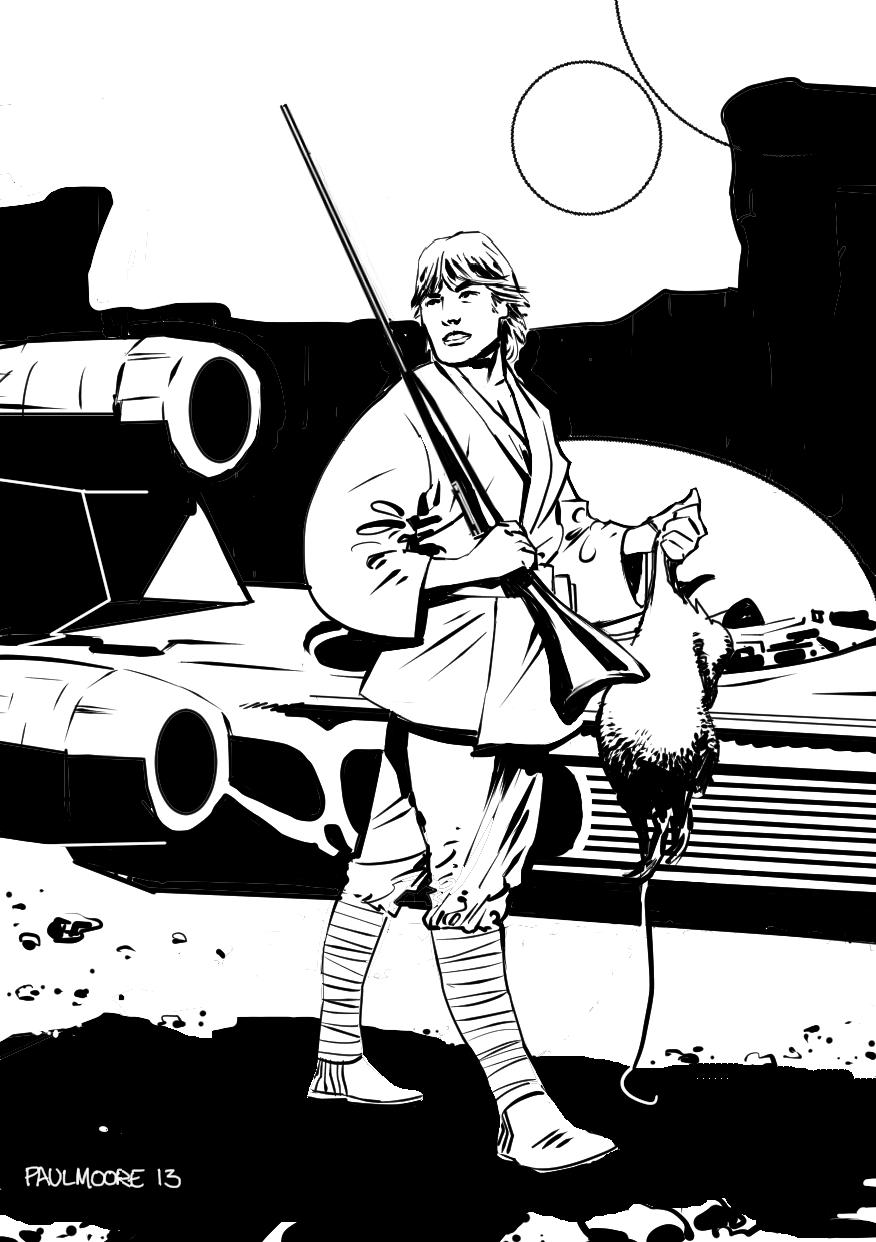 Luke Skywalker clipart drawing By Paul  Moore by
