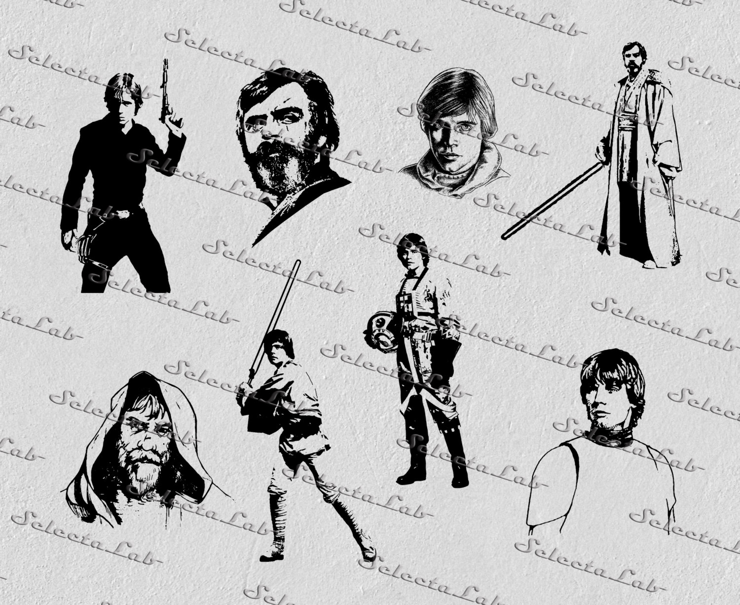 Luke Skywalker clipart tatooine Digital wars inspired star digital