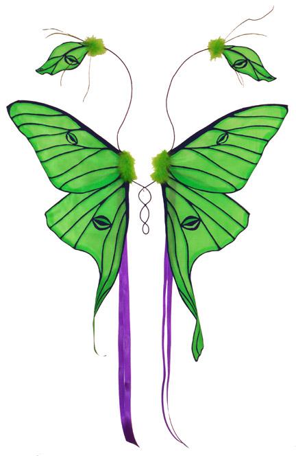 Luna Moth clipart Fairy @deviantART Luna by deviantart