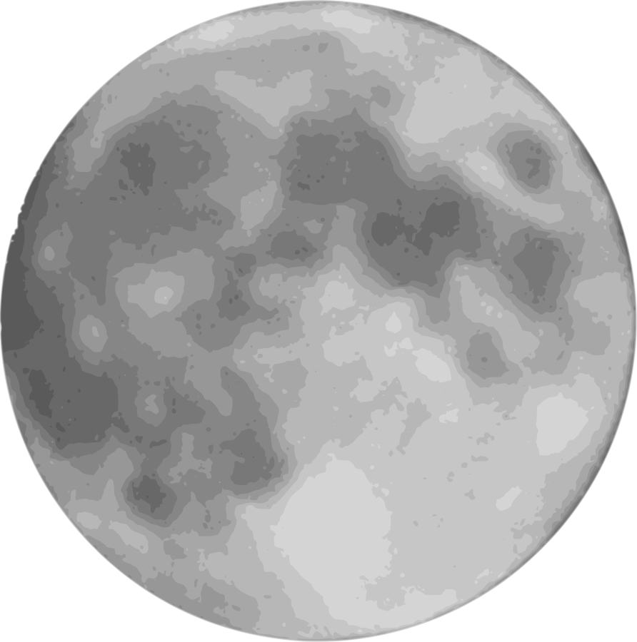 Planets clipart grey #3