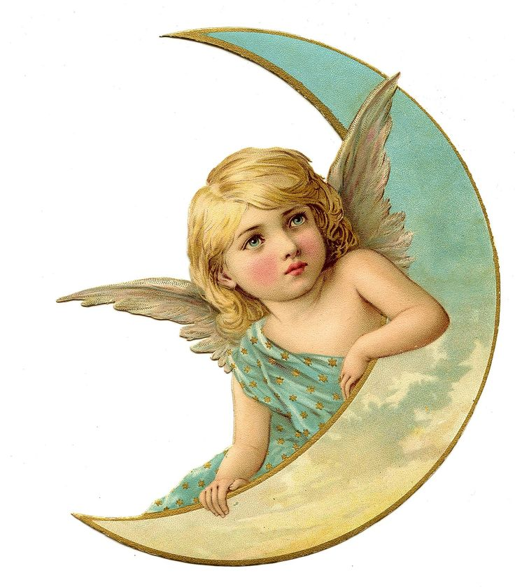 Moon clipart angel Store to on Angels♦ Make
