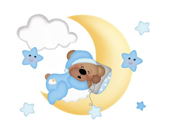 Teddy clipart sleepy GOOD Bedroom best Cloud Baby