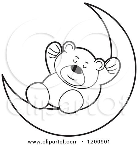 Lunar clipart bedtime Moon cliparts Clipart Teddy Bedtime