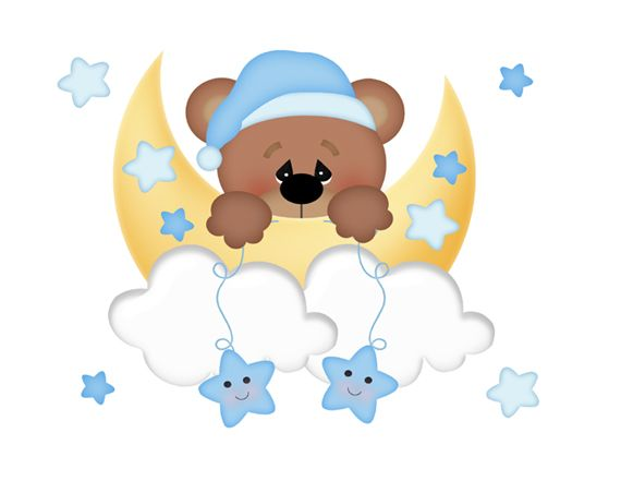 Lunar clipart bedtime GOOD 123 for TEDDY Decals