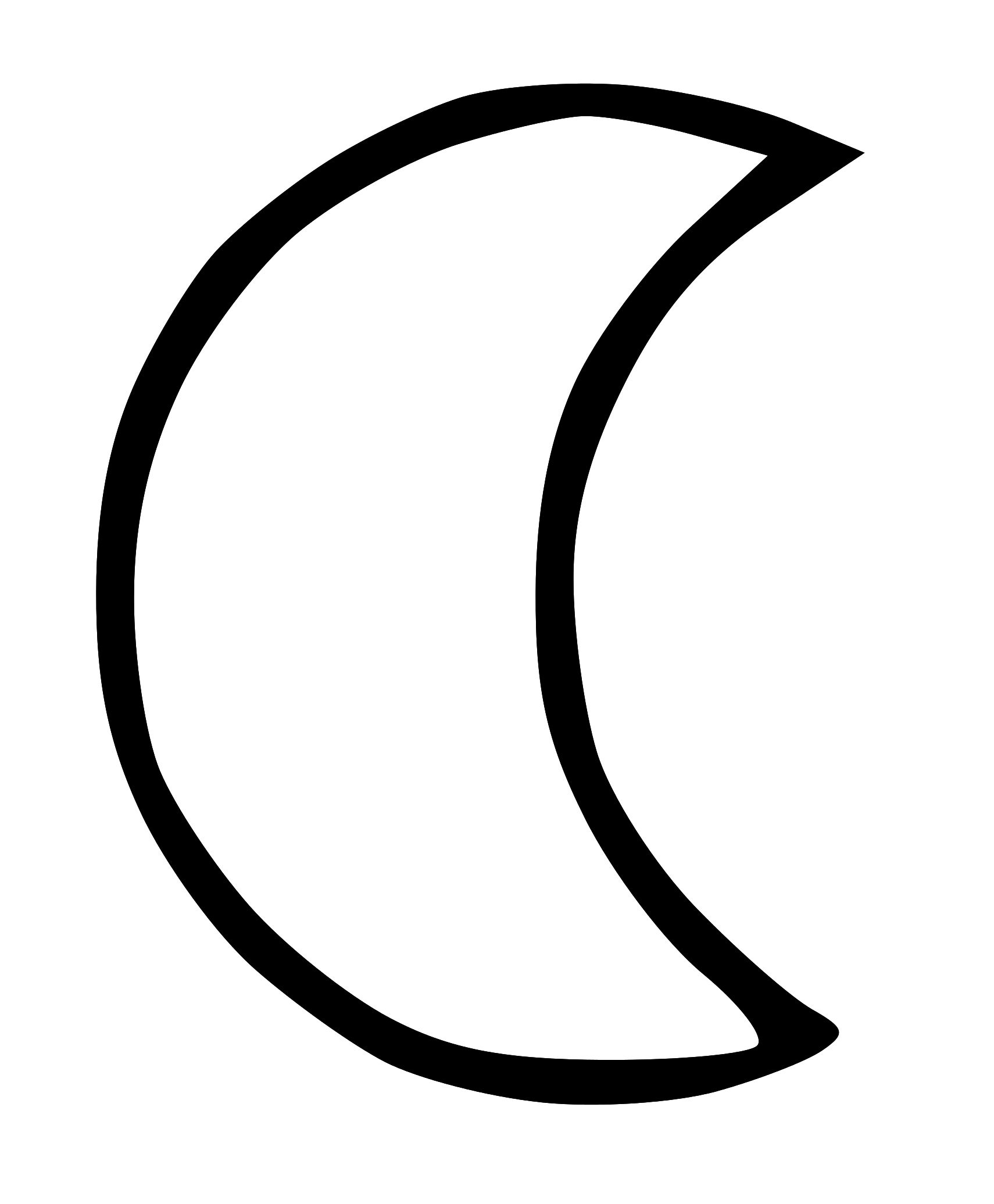 Moon clipart outline #1