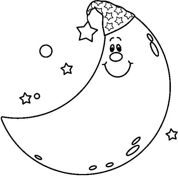 Lunar clipart black n white Art Moon free free images