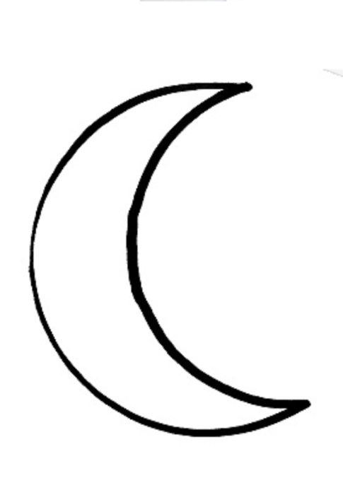 Lunar clipart black n white Typographic lunar Notions  Paper