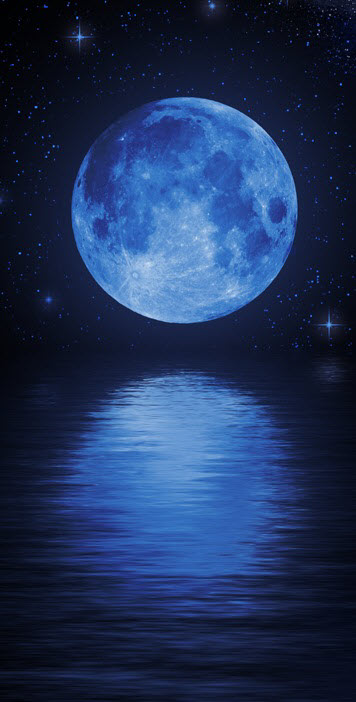 Lunar clipart blue moon A and deep Pin of
