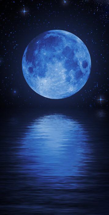 Moonlight clipart blue moon #1