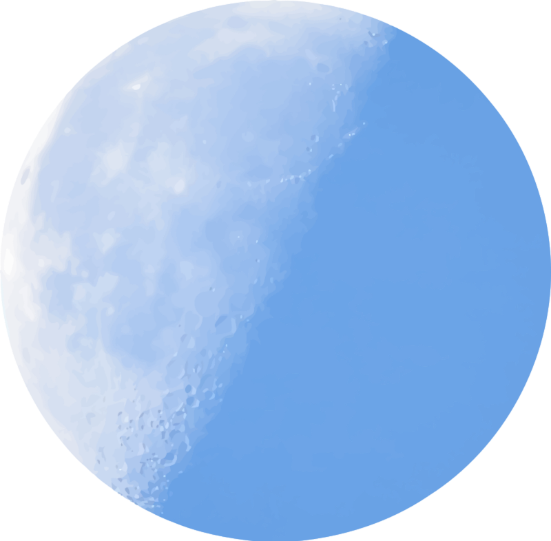 Moon clipart clear background #6
