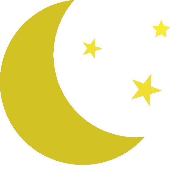 Night clipart moon star Graphics 2 Half kid 2
