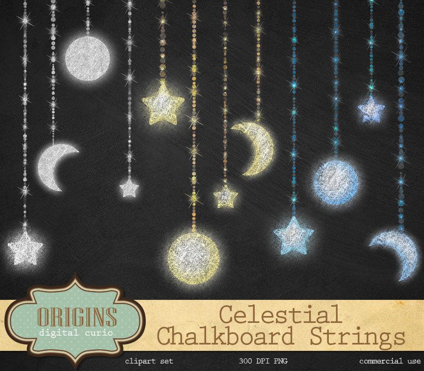 Lunar clipart celestial Clipart Strings Celestial Chalk Night