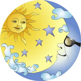 Lunar clipart celestial Moon Man With and Moon