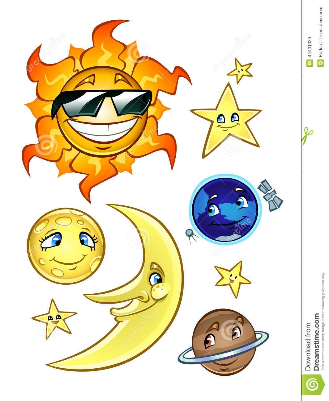 Lunar clipart celestial Stars Bodies Moon clipart Celestial