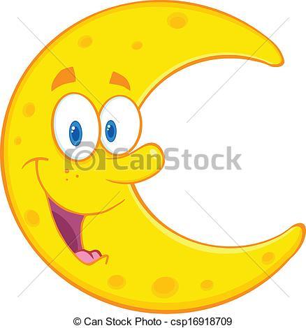 Moon clipart cartoon Moon Moon Cartoon Smiling Moon