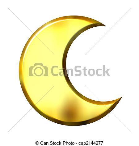 Lunar clipart crecent Stock Illustrations Moon csp2144277 golden